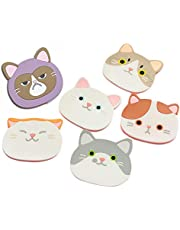 Silicone Coaster Mug Cat Cup mat Cup WAD - Rubber Mat for Wine, Glass, Tea- Best Housewarming Beverage, Drink, Beer- Home House Kitchen Decor - Wedding Registry Gift Idea (White)
