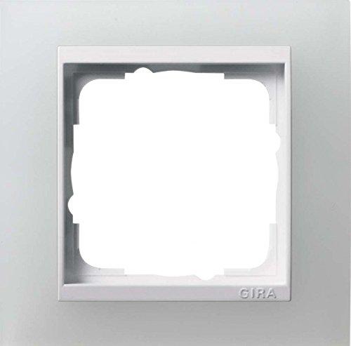 Gira 0211334 Abdeckrahmen 1-Fach Event opak-weiß mit reinweißem Zwischenrahmen