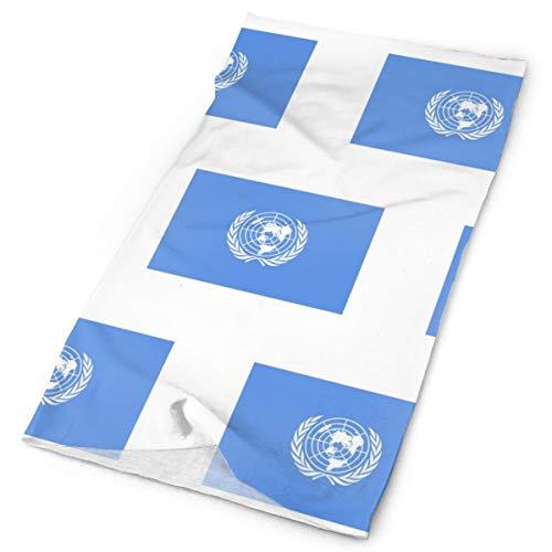Polainas mágicas para el cuello con la bandera de la ONU, para la cabeza, pañuelo deportivo, multifunción.