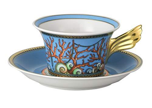 Versace - Taza y Plato de té Les trésors de la mer