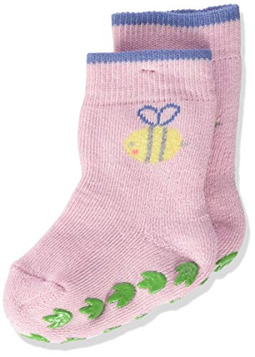 FALKE Unisex Baby Hausschuh-Socken Bumblebee, Baumwolle, 1 Paar, Rosa (Thulit 8663), 6-12 Monate (74-80cm)