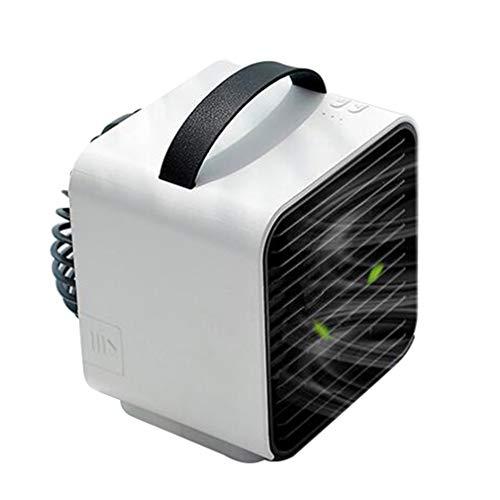 ALYR 3-in-1 Personal Condizionatori, Portatile Mini USB Condizionatore Ventilatore Multiuso Raffreddatore d'Aria Refrigeration/Umidificatore/Purificatore d'Aria per la tavola Home Office,White