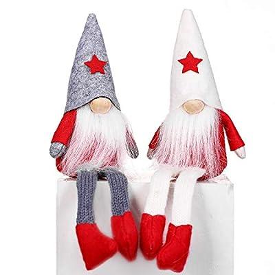 XmasExp Santa Gnomes Christmas Ornament Set