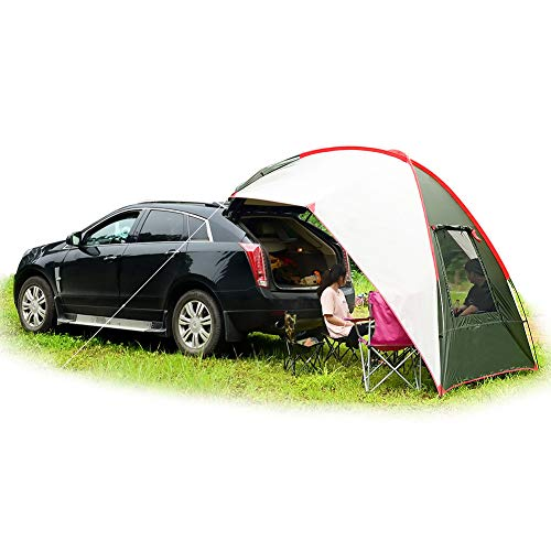 Car Tail Tent Awning Sun Shelter Trailer Tent Carport Tent Portable Tent Waterproof Auto Canopy Camper Trailer Tent Outdoor Equipment Camping car Tent for Beach, SUV, MPV, Hatchback, Minivan, Sedan