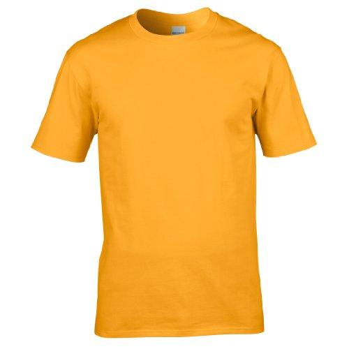 Gildan Premium T-Shirt für Männer (XL) (Gold) XL,Gold