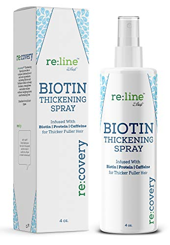 Biotin Hair Thickening Spray for Thin Hair Texturizing Spray Hair Loss Prevention Thinning Hair Thickening Tonic for Fine Hair Thick Hair Growth Products for Men for Women Paisle Botanics