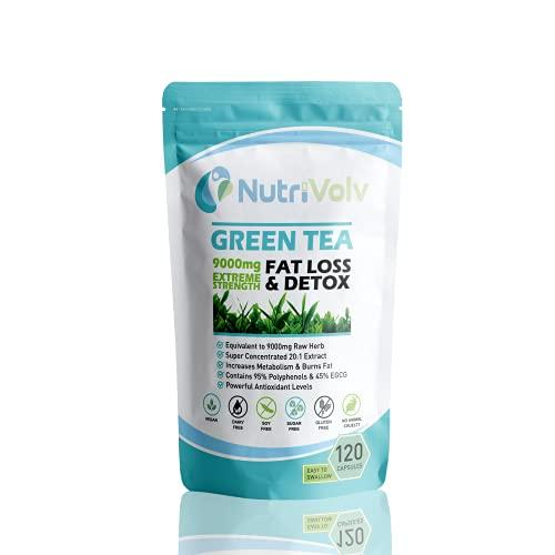 Green Tea 9000mg | 120 Capsules | Weight Loss | Slimming Aid | Diet | Detox...