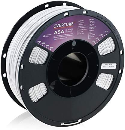 OVERTURE ASA Filament 1 75mm with Build Surface 200mm 200mm Premium Anti UV 3D Printer Consumables product image