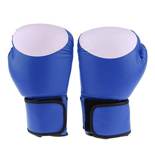 perfeclan 1 Paar Boxhandschuhe Boxsack Mitts Fäustlinge Für Jugendliche Jungen Mädchen Kickboxen - Blau