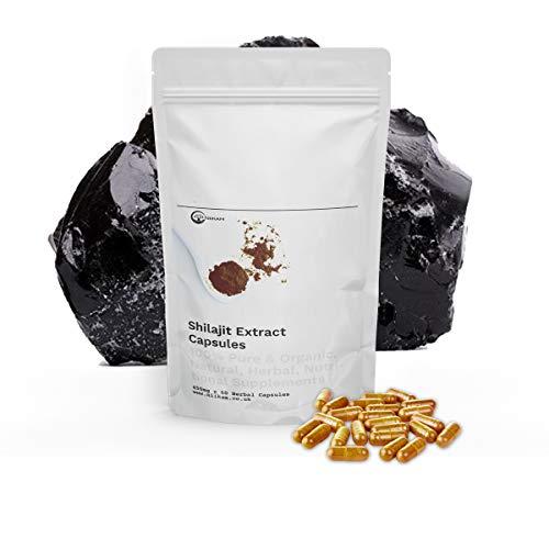 Niikam Shilajit Organic 60 Extract Vegan Capsules High Strength Premium Quality Capsules Gluten Free Gelatin Free Cruelty Free - 100% Natural and Organic
