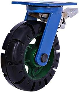 LYQQQQ 2 stuks Heavy Duty wielen 10/12 inch directionele wielen/zwenkwielen/remwielenSuper zware rubberen wielenbelasting-...