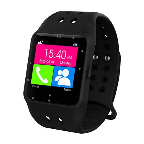 PRIXTON sw11 - Smartwatch de 1.3' (Bluetooth, iOS, Android) Color Negro