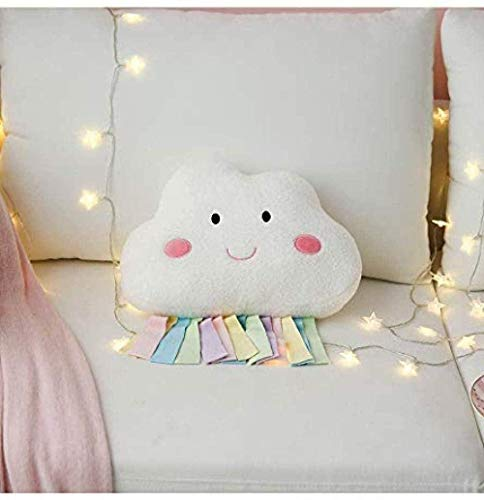 NC87 Linda Nube de Escamas de arcoíris cojín decoración de la Cama Suave Felpa Regalo de cumpleaños Juguete para niños 1 Pieza
