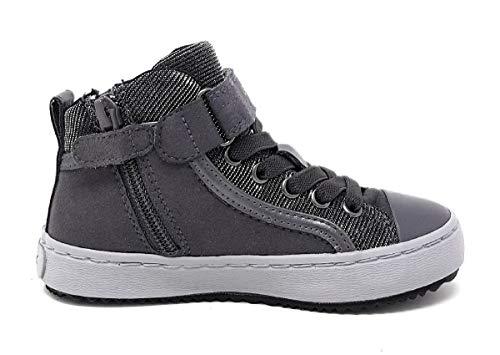 Geox Mädchen J Kalispera Girl I Hohe Sneaker, Grau - 2