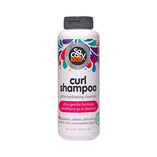 SoCozy Curl Shampoo | For Kids Hair | Ultra-Hydrating Cleanser | 10.5 fl oz | No Parabens, Sulfates, Synthetic Colors or Dyes, Sweet-Crème