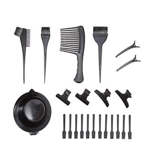 23 Pcs Hair Dye Kit - Kit De Bricolage Salon Outil Pour Teinture Capillaire, Teinture Des Cheveux Bowl, Dye Brosse, Peigne Scraper Clips, Salon Dédié