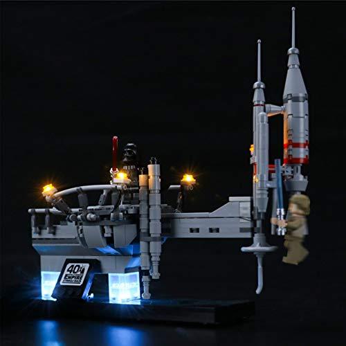 Kit de Iluminación LED para Lego 75294, Kit de Luces Compatible con Lego Star Wars Bespin Duel (No Incluye Modelo Lego)