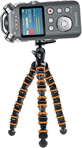 TronicXL TRIPOD 32cm Stativ Flexibel Diktiergerät Audiorekorder Aufnahmegerät 1/4 Zoll zb kompatibel für Roland Philips Tascam Sony Olympus Zoom H4n Pro H5 H6 mobile Recorder H2n Halterung