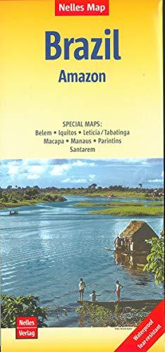 Nelles Map Landkarte Brazil: Amazon: 1:2.500.000 | reiß- und wasserfest; waterproof and tear-resistant; indéchirable...