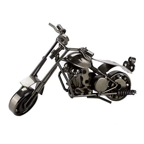 YeVhear Vintag - Modelos de moto de metal para oficina creativa, motocicletas de oficina, obras de arte autoensambladas, ideales para dormitorios, salas de juegos, baño negro