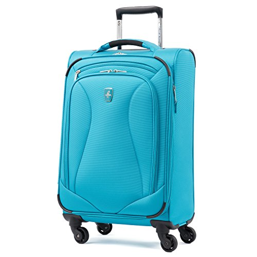 Atlantic Luggage Atlantic Ultra Lite Softsides Carry-on Exp. Spinner, turquoise blue