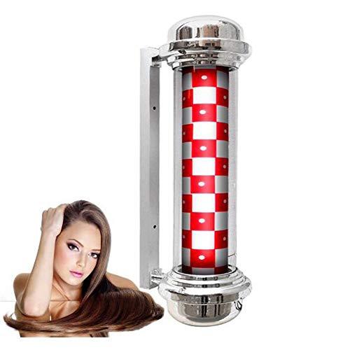 31in LED Poteau Barbier Coiffeur Enseigne Lampe Salon Équipement Rayures Lumineuse & Pivotante Lumière Coiffeur Boutique Signe/B