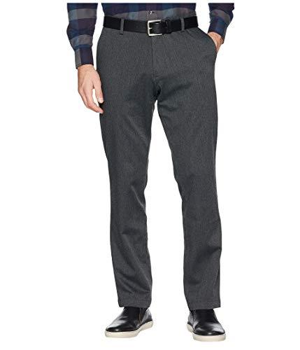 Dockers Men's Athletic Fit Signature Khaki Lux Cotton Stretch Pants, charcoal heather, 34W x 32L