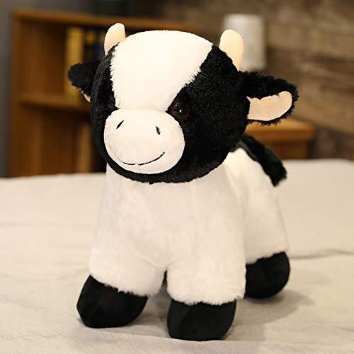 Fluffig docka förtjusande tjur mjölkigt nötkreatur plyschleksak fyllda fett ko djur mjuk leksak för baby gåva fylld docka för samla 45cm A