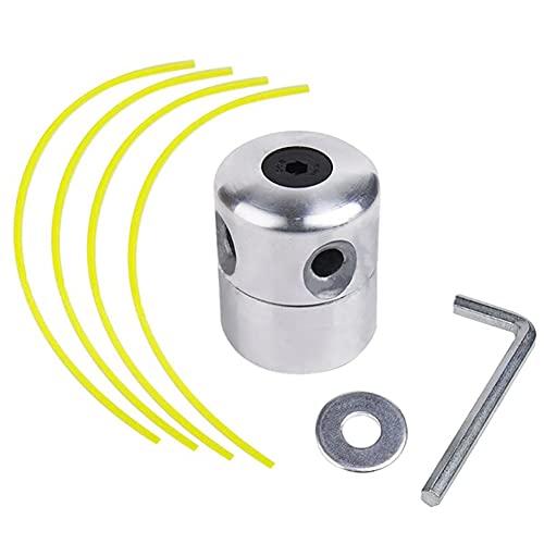 Zhioudz Aluminio Universal Cabezal Desbrozadora Cabezal de Corte de CéSped de Aluminio, Cabezal Desbrozadora Universal con LíNeas de Corte para Cortadoras de Gasolina, CortacéSpedes
