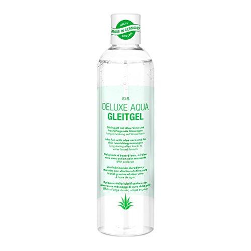 Deluxe 2 in 1 Gleitgel und Massagegel, Spaß & Pflege auf Wasserbasis, Aloe Vera, 300 ml
