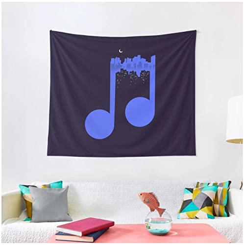Tapiz BY MJMCYBQQY Tapiz de música nocturna Decoración del hogar Manta de pared Tapiz Dormitorio Colgante de pared Estera de yoga 70.86'x90.55'Inch(180x230 Cm)