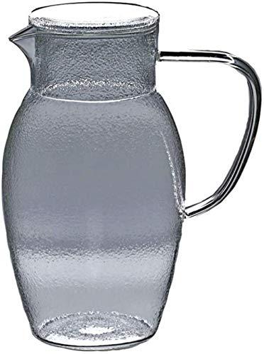 Tetera de cristal El jarro de agua Jarro de cristal con la tapa de la jarra de agua de la jarra de cristal de borosilicato y acero inoxidable tapa del frasco de cristal de la tapa jugo de té helado ca