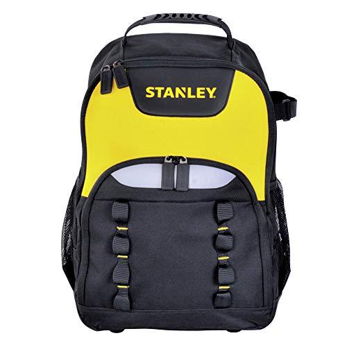Stanley Werkzeugrucksack (35 x 44 x 16 cm, robustes 600 x 600 Denier Nylon, tragbarer Innenteiler, ergonomischer Rücken, Fronttasche für Zubehör, Extrafach für Elektrowerkzeug) STST1-72335