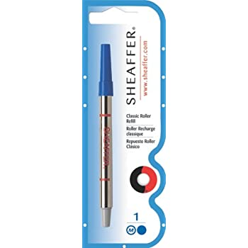 Pack of 2 Bleu Monteverde Recharge Pointe Fine Compatible Stylos Roller Sheaffer
