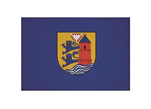 U24 Aufnäher Flensburg Fahne Flagge Aufbügler Patch 9 x 6 cm
