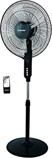 "SONASHI 16"" STAND FAN WITH REMOTE CONTROL, SF-8027S - BLACK"