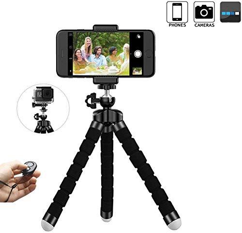 Mobiele telefoon statief smartphone voor iPhone statief staander houder mobiele telefoon houder met bluetooth afstandsbediening shutter camera en smartphone