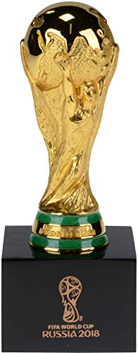 Official 2018 FIFA World Cup Mini Replica Trophy on Pedestal - Unsigned Miscellaneous