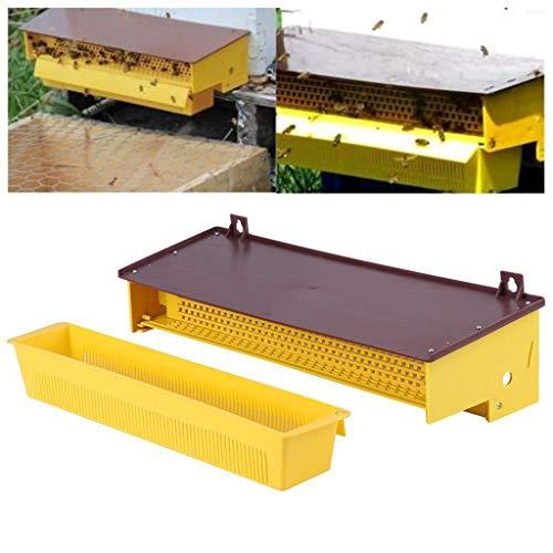 MICHAELA BLAKE Bienenzucht Kunststoff Pollenfalle Gelb mit abnehmbarem Innenbelüftete Pollen Tray Wiederverwendbare dauerhaft Ungiftiger Pollen Sammlerbedarf Praktische Anlagen für die Bienenzucht