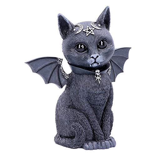 Nemesis Now Große Malpuss Winged Okkulte Katze, schwarz, 24 cm