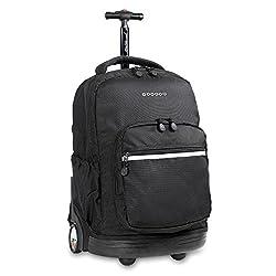 professional J World New York Sunrise Roller Backpack Black One Size