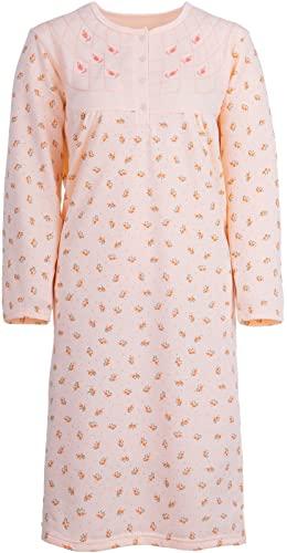 Zeitlos Damen Nachthemd Blumen Druck (M, Apricot)