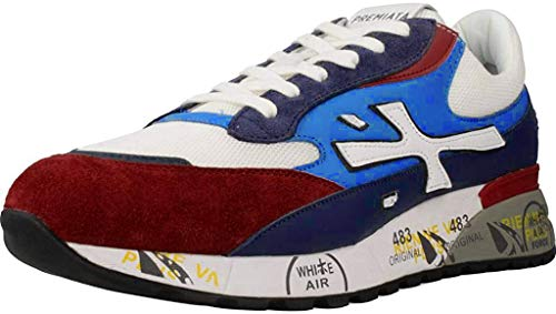 PREMIATA DJANG0_4686 Leather Trainers, Suede Leather and Canvas. Tab with Logo. Sneaker closure with laces Multicolour Size: 10 UK