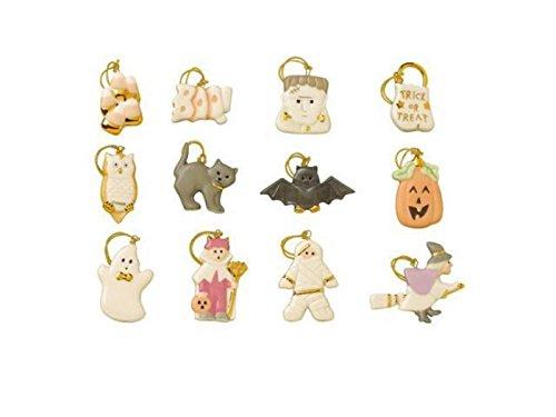 Lenox Halloween Trick Or Treat Miniature Tree Ornaments 12 Pumpkin Ghost Cat