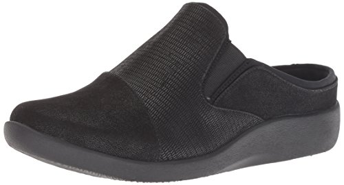 Clarks Women's Sillian Free Clog, Black Synthetic Combi, 095 M US