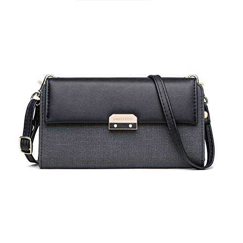 Amiemie dame in helling op tas een schouder Zero tas 19 cm x 4 cm x 11 cm/zwart