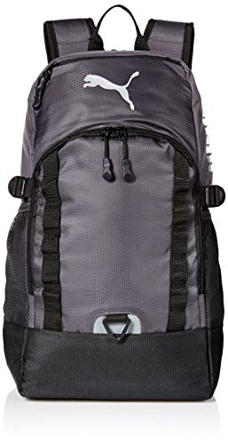 PUMA Men's Fraction Backpack, Dark Grey/Metallic Silver, One Size