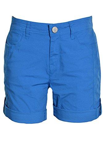 DKNY Jeans Womens Roll Tab Shorts 8 Blue