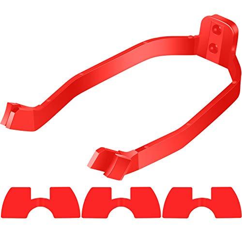 4 Piezas Accesorio de Repuesto de Scooter Incluye Soporte de Guardabarros Trasero de Guardabarros y 3 Piezas Amortiguadores de Vibraciones de Goma para Xiaomi M365/ M365 Scooter Profesional (Rojo)