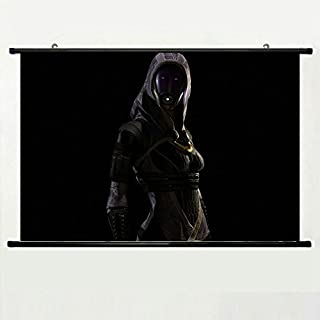 Wall Scroll Poster with Mass Effect Tali Zorah Shadow Light Hood Home Decor Wall Posters Fabric Painting 23.6 X 15.7 Inch